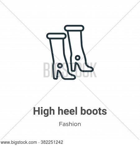 High Heel Boots Icon From Fashion Collection Isolated On White Background.