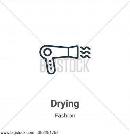 Drying icon isolated on white background from fashion collection. Drying icon trendy and modern Dryi