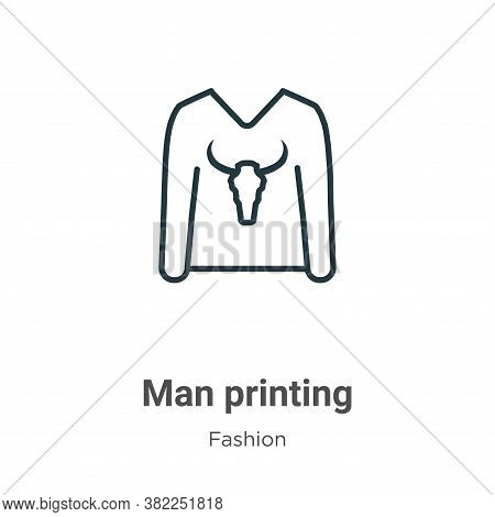 Man printing icon isolated on white background from fashion collection. Man printing icon trendy and