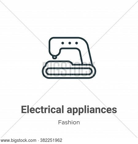 Electrical appliances icon isolated on white background from fashion collection. Electrical applianc