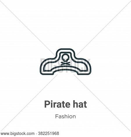 Pirate hat icon isolated on white background from fashion collection. Pirate hat icon trendy and mod
