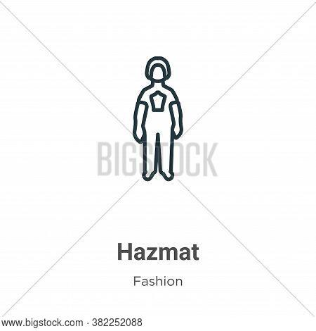 Hazmat icon isolated on white background from fashion collection. Hazmat icon trendy and modern Hazm