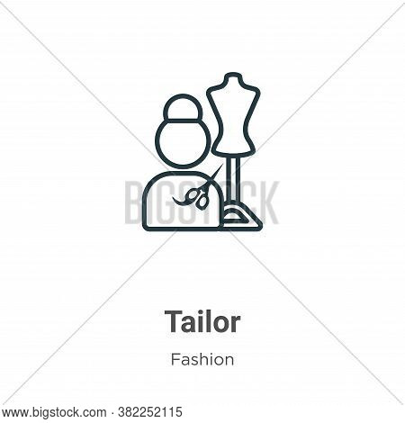 Tailor icon isolated on white background from fashion collection. Tailor icon trendy and modern Tail