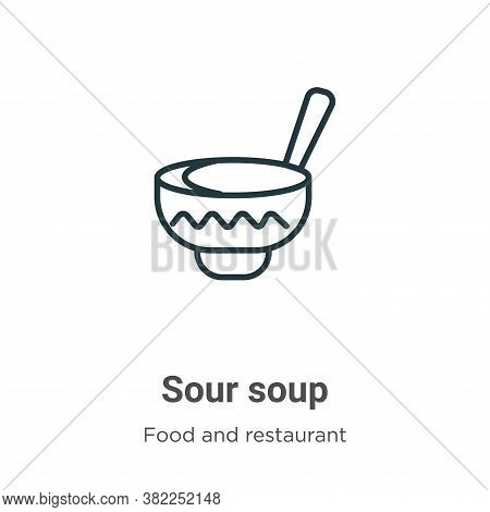 Sour soup icon isolated on white background from food and restaurant collection. Sour soup icon tren