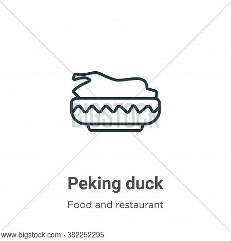 Peking duck icon isolated on white background from food and restaurant collection. Peking duck icon