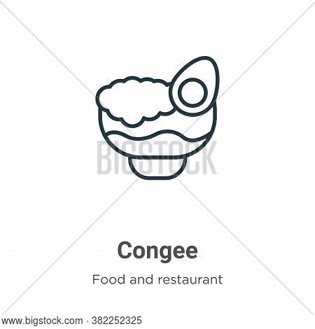 Congee icon isolated on white background from food and restaurant collection. Congee icon trendy and