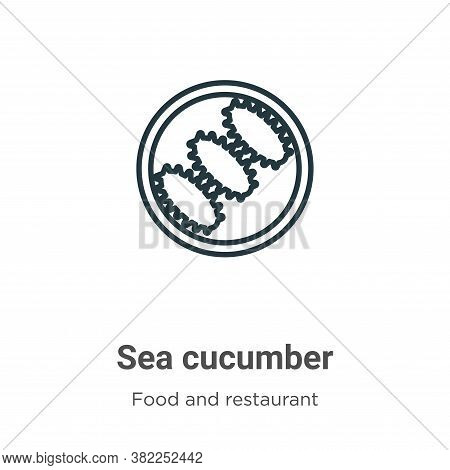 Sea cucumber icon isolated on white background from food and restaurant collection. Sea cucumber ico
