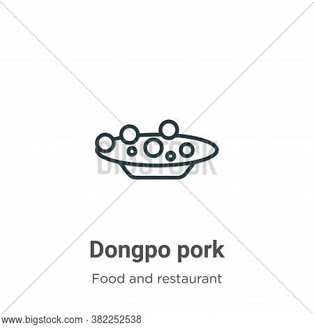 Dongpo pork icon isolated on white background from food and restaurant collection. Dongpo pork icon