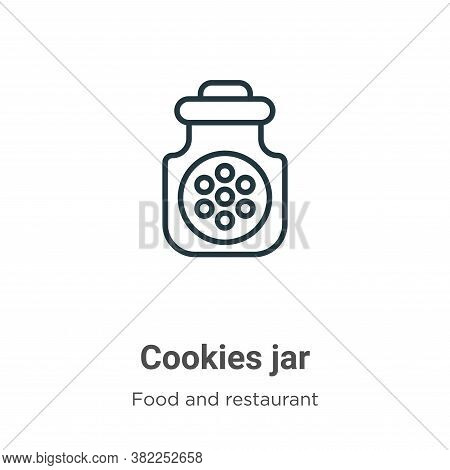 Cookies jar icon isolated on white background from food and restaurant collection. Cookies jar icon