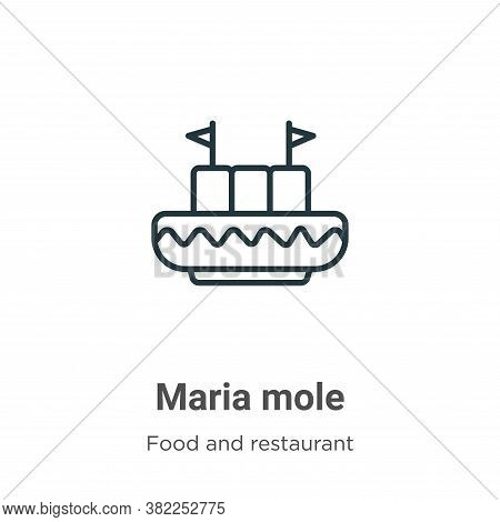 Maria mole icon isolated on white background from food and restaurant collection. Maria mole icon tr