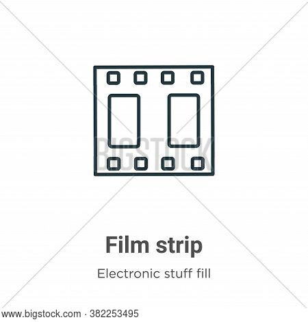 Film strip icon isolated on white background from electronic stuff fill collection. Film strip icon
