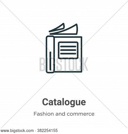 Catalogue icon isolated on white background from fashion and commerce collection. Catalogue icon tre