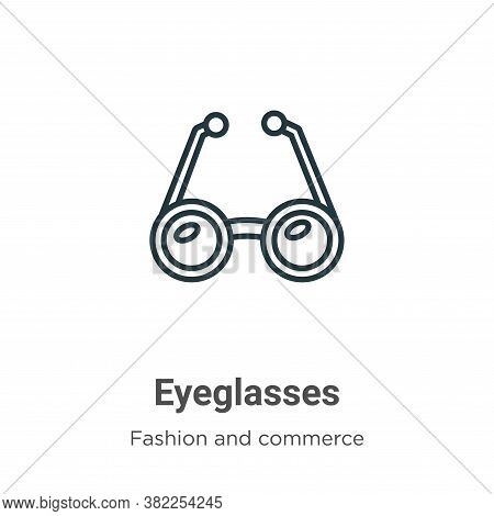Eyeglasses icon isolated on white background from fashion and commerce collection. Eyeglasses icon t