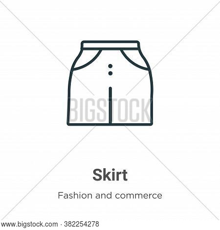 Skirt icon isolated on white background from fashion and commerce collection. Skirt icon trendy and