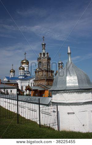 Russia, Chuvash Republic, Tsivilsk. The Virgin of Tikhvin Monastery. poster