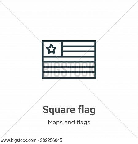 Square flag icon isolated on white background from maps and flags collection. Square flag icon trend