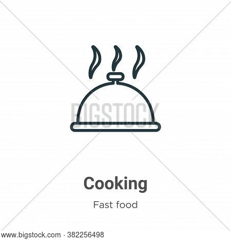 Cooking icon isolated on white background from fast food collection. Cooking icon trendy and modern