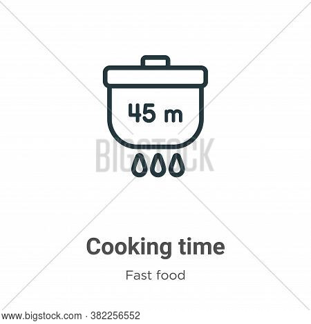 Cooking time icon isolated on white background from fast food collection. Cooking time icon trendy a