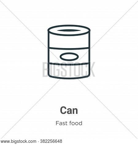 Can icon isolated on white background from fast food collection. Can icon trendy and modern Can symb