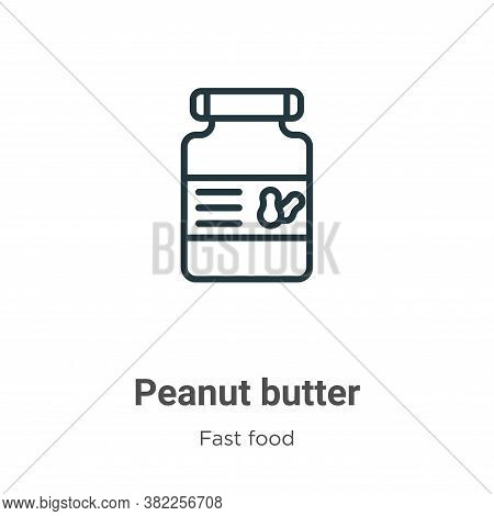 Peanut butter icon isolated on white background from fast food collection. Peanut butter icon trendy