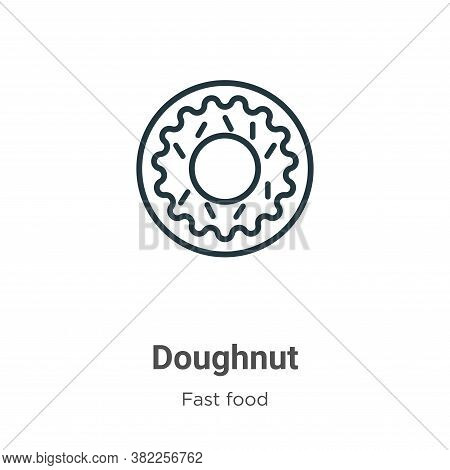 Doughnut icon isolated on white background from fast food collection. Doughnut icon trendy and moder