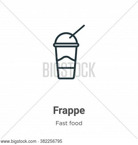 Frappe icon isolated on white background from fast food collection. Frappe icon trendy and modern Fr