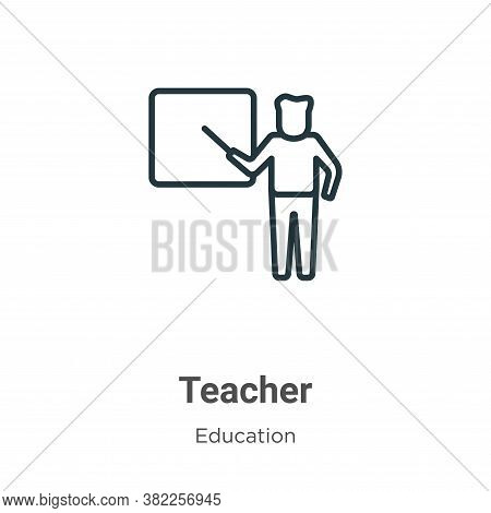 Teacher icon isolated on white background from education collection. Teacher icon trendy and modern