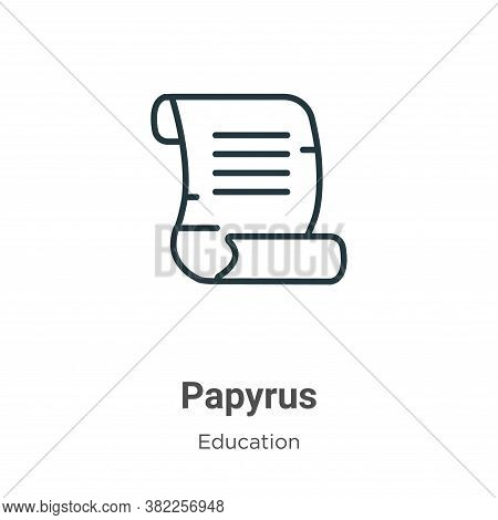 Papyrus icon isolated on white background from education collection. Papyrus icon trendy and modern