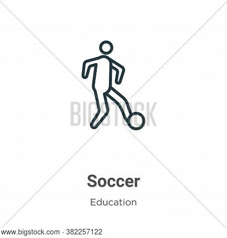 Soccer icon isolated on white background from education collection. Soccer icon trendy and modern So
