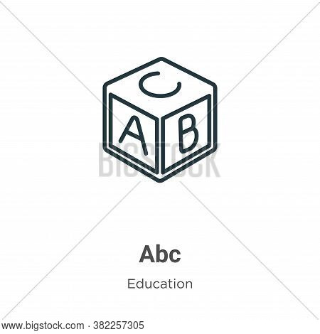 Abc icon isolated on white background from education collection. Abc icon trendy and modern Abc symb