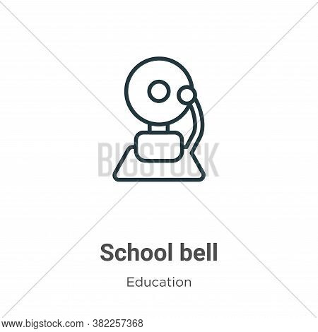 School bell icon isolated on white background from education collection. School bell icon trendy and