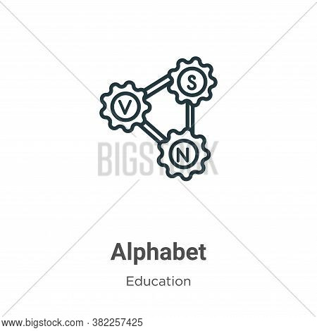 Alphabet icon isolated on white background from education collection. Alphabet icon trendy and moder