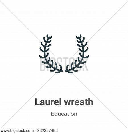 Laurel wreath icon isolated on white background from graduation and education collection. Laurel wre