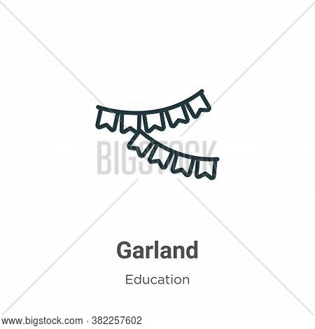 Garland icon isolated on white background from graduation and education collection. Garland icon tre