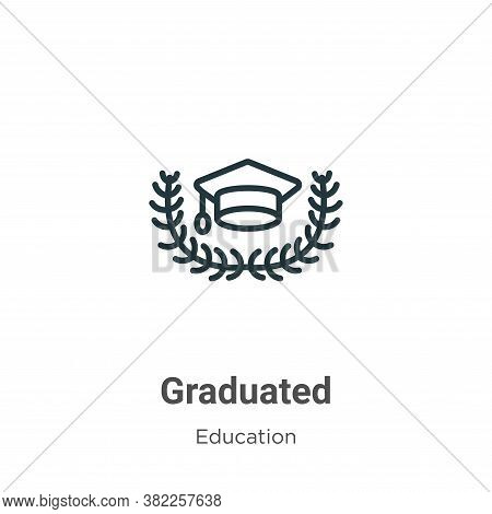 Graduated icon isolated on white background from graduation and education collection. Graduated icon