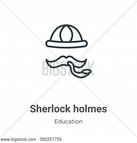 Sherlock Holmes Icon From Literature Collection Isolated On White Background.