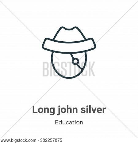 Long john silver icon isolated on white background from literature collection. Long john silver icon