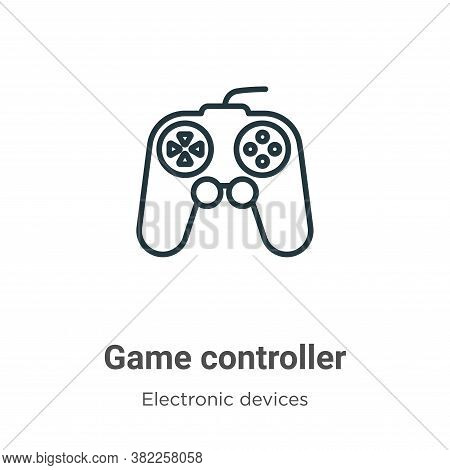Game controller icon isolated on white background from electronic devices collection. Game controlle