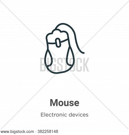 Mouse icon isolated on white background from electronic devices collection. Mouse icon trendy and mo