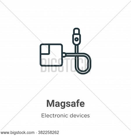 Magsafe icon isolated on white background from electronic devices collection. Magsafe icon trendy an