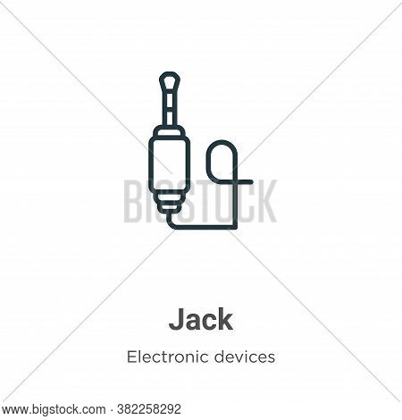 Jack icon isolated on white background from electronic devices collection. Jack icon trendy and mode