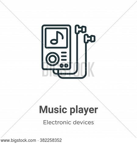 Music player icon isolated on white background from electronic devices collection. Music player icon