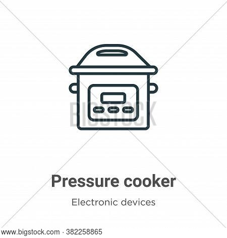 Pressure cooker icon isolated on white background from electronic devices collection. Pressure cooke