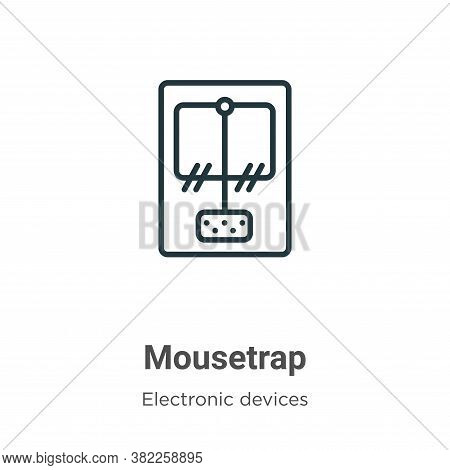 Mousetrap Icon From Electronic Devices Collection Isolated On White Background.