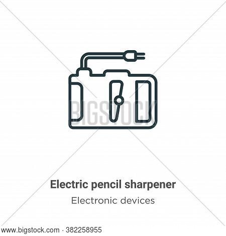 Electric pencil sharpener icon isolated on white background from electronic devices collection. Elec