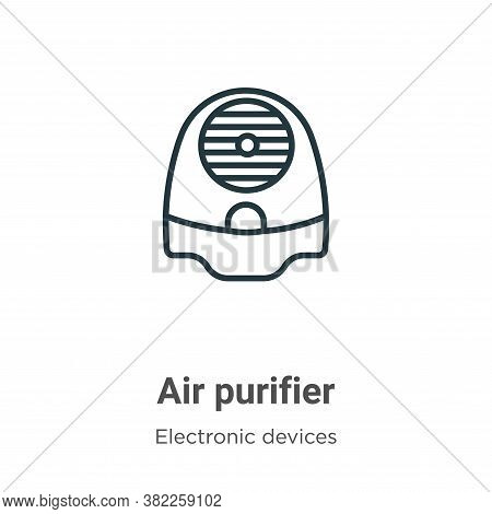 Air purifier icon isolated on white background from electronic devices collection. Air purifier icon