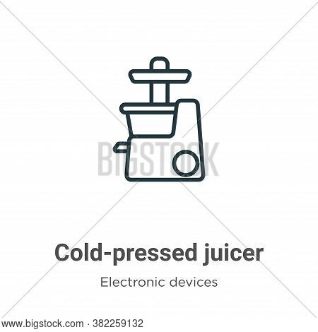 Cold-pressed juicer icon isolated on white background from electronic devices collection. Cold-press
