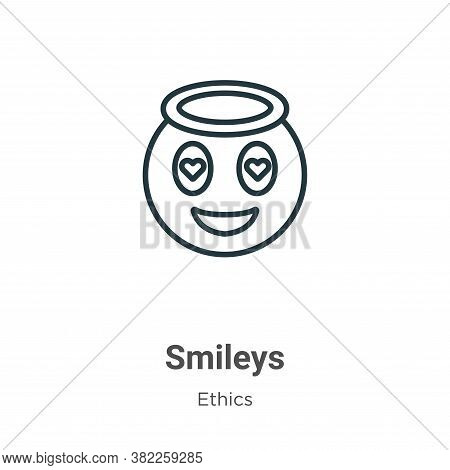 Smileys icon isolated on white background from ethics collection. Smileys icon trendy and modern Smi