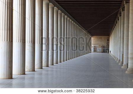 Interior Of Ancient Agora