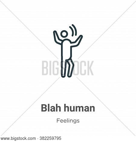 Blah human icon isolated on white background from feelings collection. Blah human icon trendy and mo